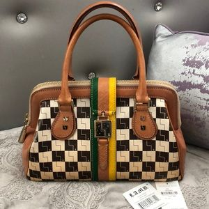 L.A.M.B. Exeter Ombre Checkerboard satchel in EUC